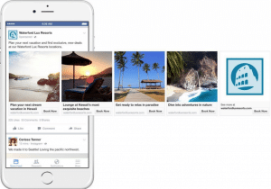 facebook ads carrousel touristique